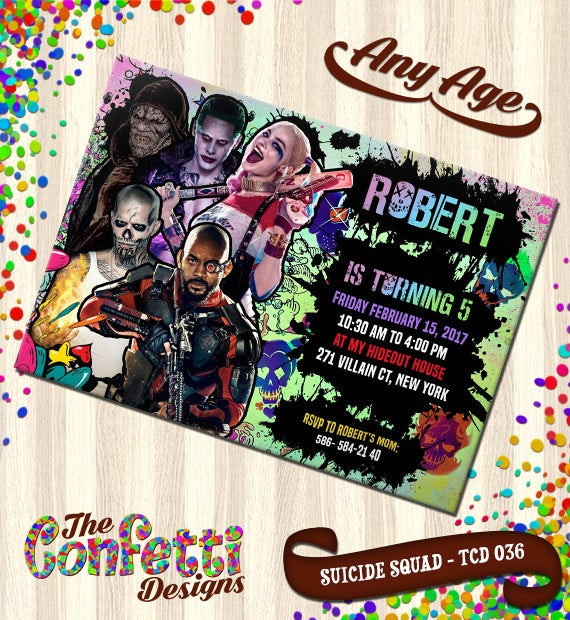 Best ideas about Suicide Squad Birthday Party . Save or Pin Suicide Squad Invitation Suicide Squad Birthday Invitation Now.
