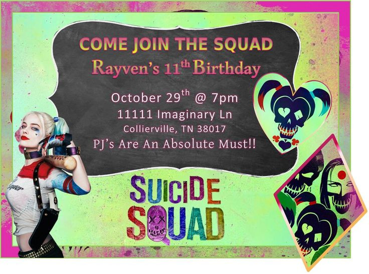 Best ideas about Suicide Squad Birthday Party . Save or Pin Invitations Suicide Squad Birthday Party Now.