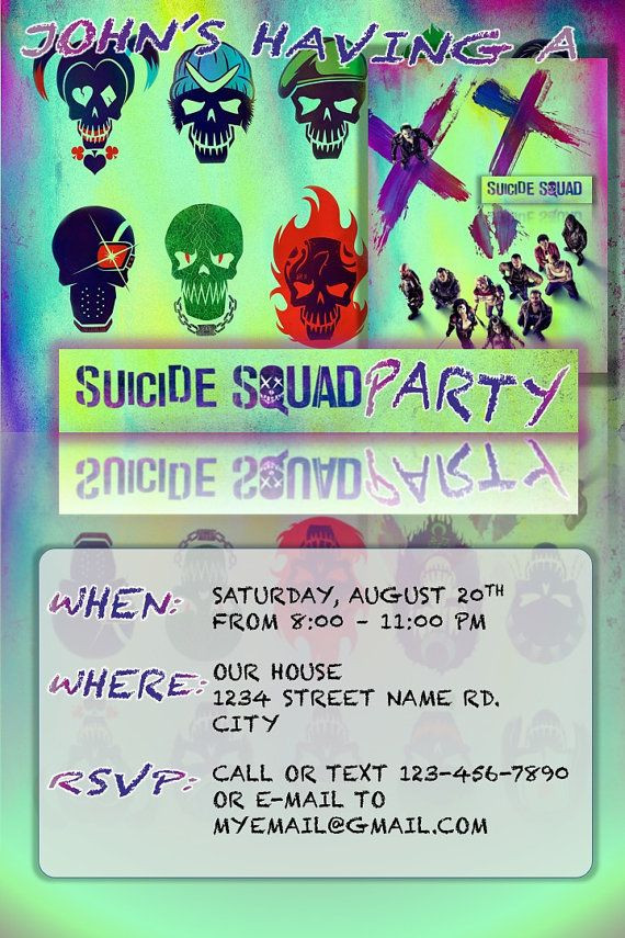 Best ideas about Suicide Squad Birthday Party . Save or Pin 19 best Suicide Squad Theme images on Pinterest Now.