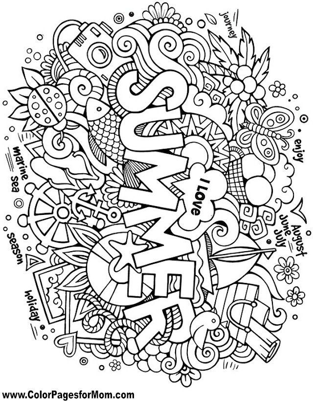Best ideas about Summer Coloring Pages For Adults . Save or Pin 185 best Name Art images on Pinterest Now.