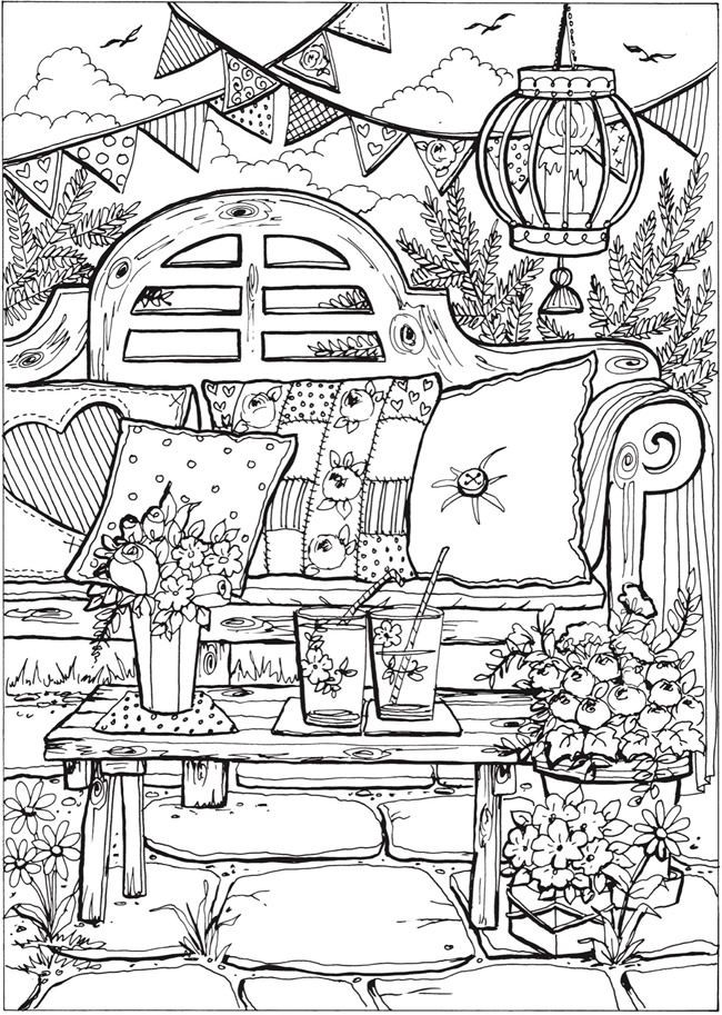 Best ideas about Summer Coloring Pages For Adults . Save or Pin Creative Haven Summer Scenes Coloring Book Now.