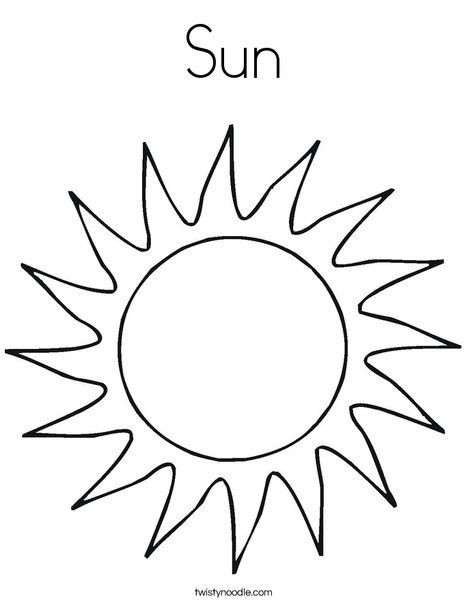 Best ideas about Sun Preschool Coloring Sheets . Save or Pin Sun Coloring Page from TwistyNoodle Crafts Now.
