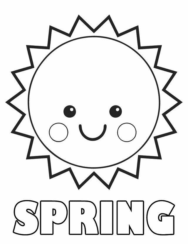 Best ideas about Sun Preschool Coloring Sheets . Save or Pin Springtime coloring sheets Spring sun Now.
