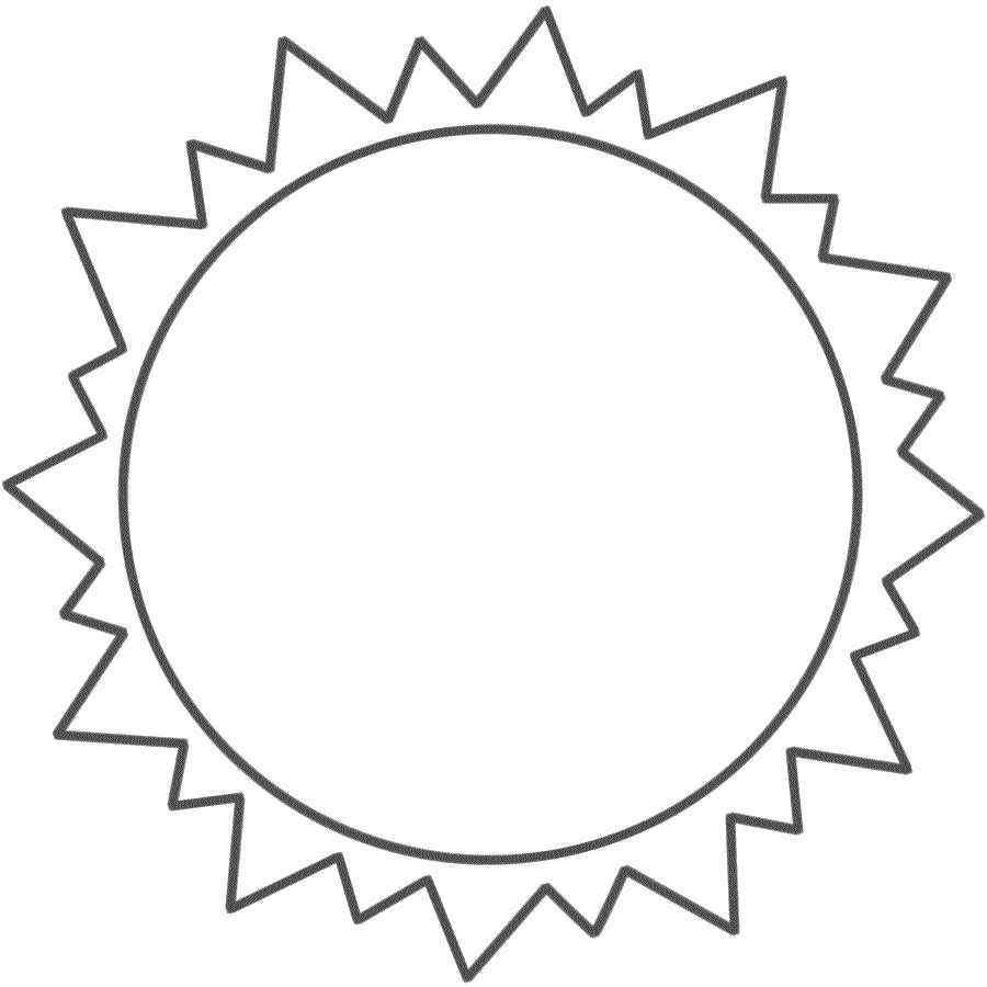 Best ideas about Sun Preschool Coloring Sheets . Save or Pin Sun Template Printable Free Now.