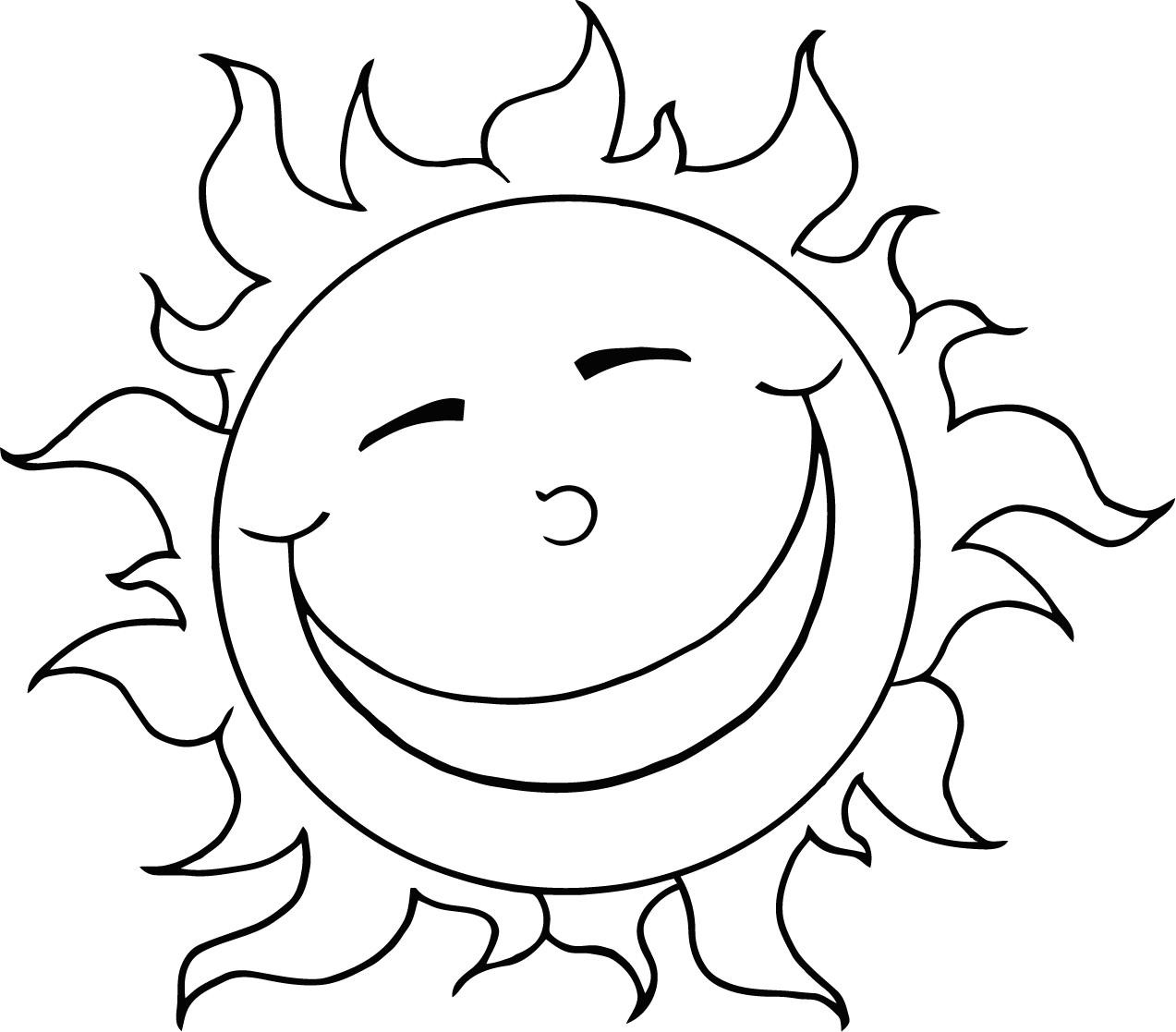 Best ideas about Sun Preschool Coloring Sheets . Save or Pin Free Printable Sun Coloring Pages for Kids Now.