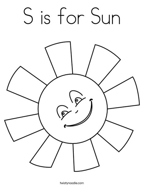 Best ideas about Sun Preschool Coloring Sheets . Save or Pin S is for Sun Coloring Page Twisty Noodle Now.