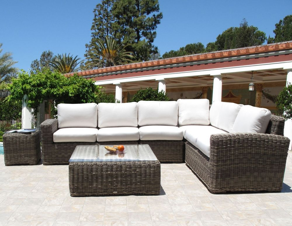 Best ideas about Sunbrella Outdoor Furniture . Save or Pin Premium Outdoor Wicker Monte Carlo Sectional 6PC Furniture Now.