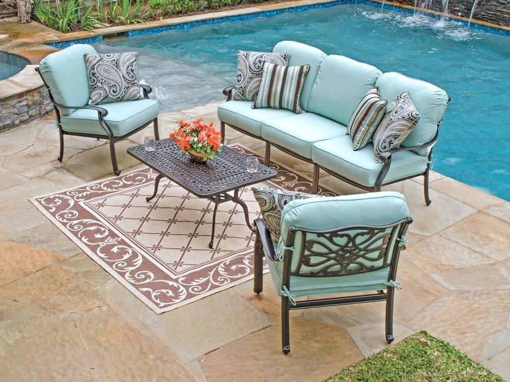 Best ideas about Sunbrella Outdoor Furniture . Save or Pin Outdoor Furniture Sunbrella Fabric Cushions Chair Blue Now.