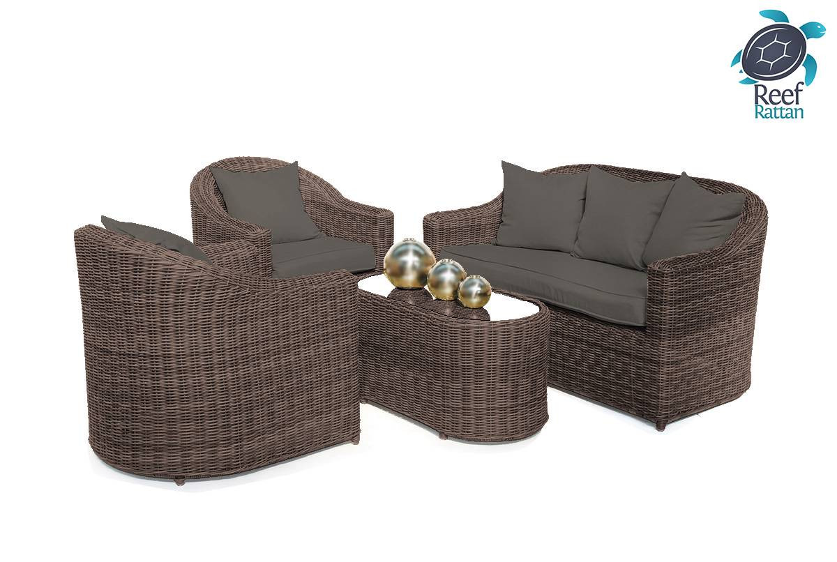 Best ideas about Sunbrella Outdoor Furniture . Save or Pin Outdoor Patio Rattan Furniture Conversation Set Brown w Now.