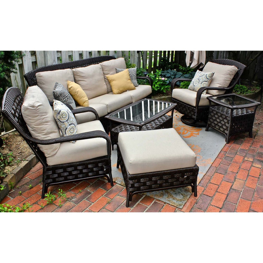 """Best ideas about Sunbrella Outdoor Furniture . Save or Pin Sunbrella Outdoor All Weather """"Wicker"""" Patio Furniture Set Now."""
