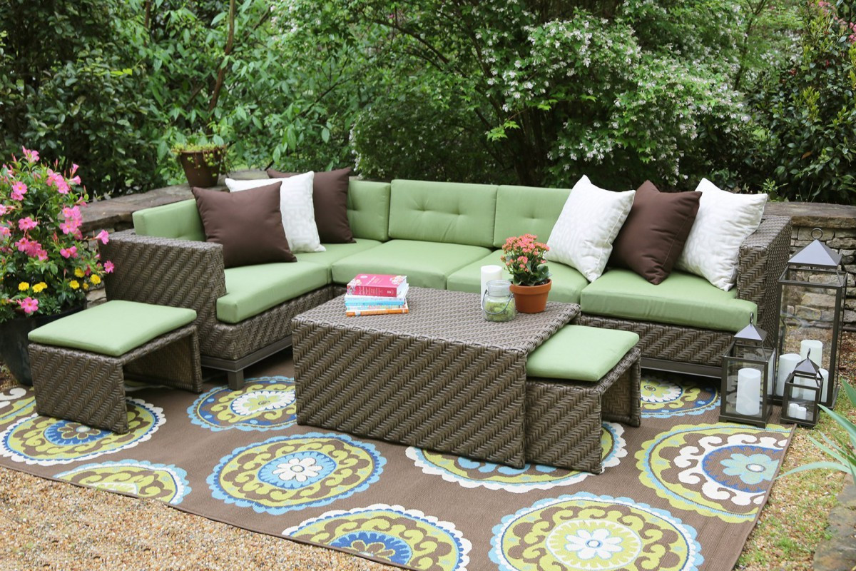 Best ideas about Sunbrella Outdoor Furniture . Save or Pin AE Outdoor Hampton 8 Piece Sectional Sofa Set with Now.