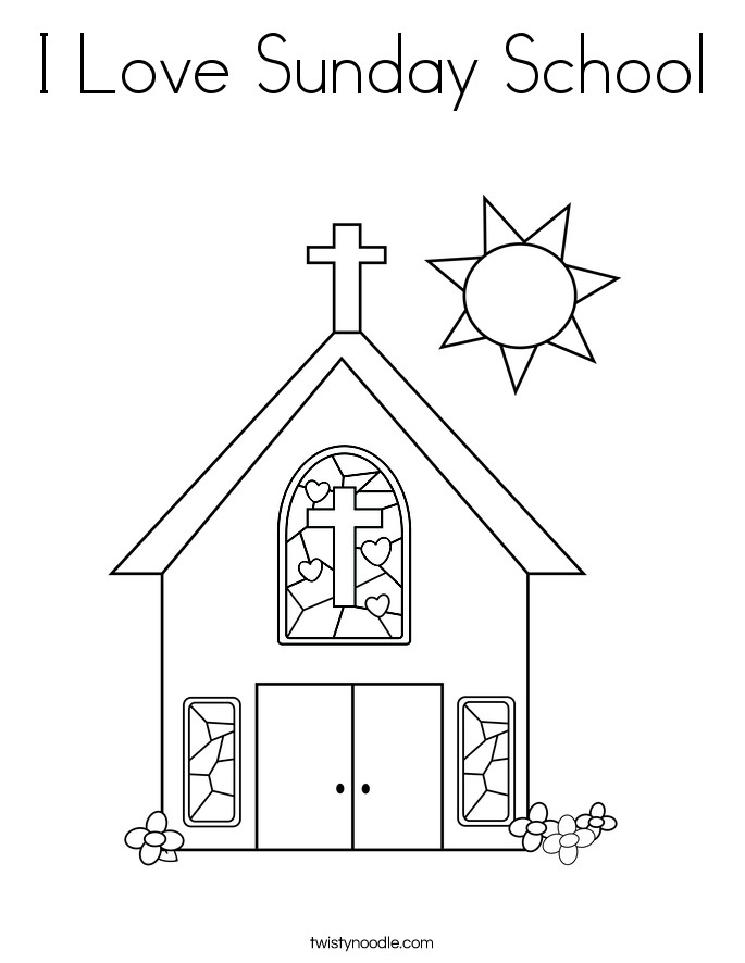 Best ideas about Sunday School Printable Coloring Sheets . Save or Pin I Love Sunday School Coloring Page Twisty Noodle Now.