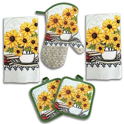 Best ideas about Sunflower Kitchen Decor Walmart . Save or Pin Sunflower Kitchen Decor 5 Piece Linen Set Now.