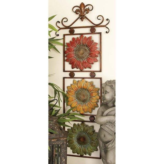 Best ideas about Sunflower Kitchen Decor Walmart . Save or Pin DecMode Fleur De Lis Sunflower Wall Sculpture Walmart Now.