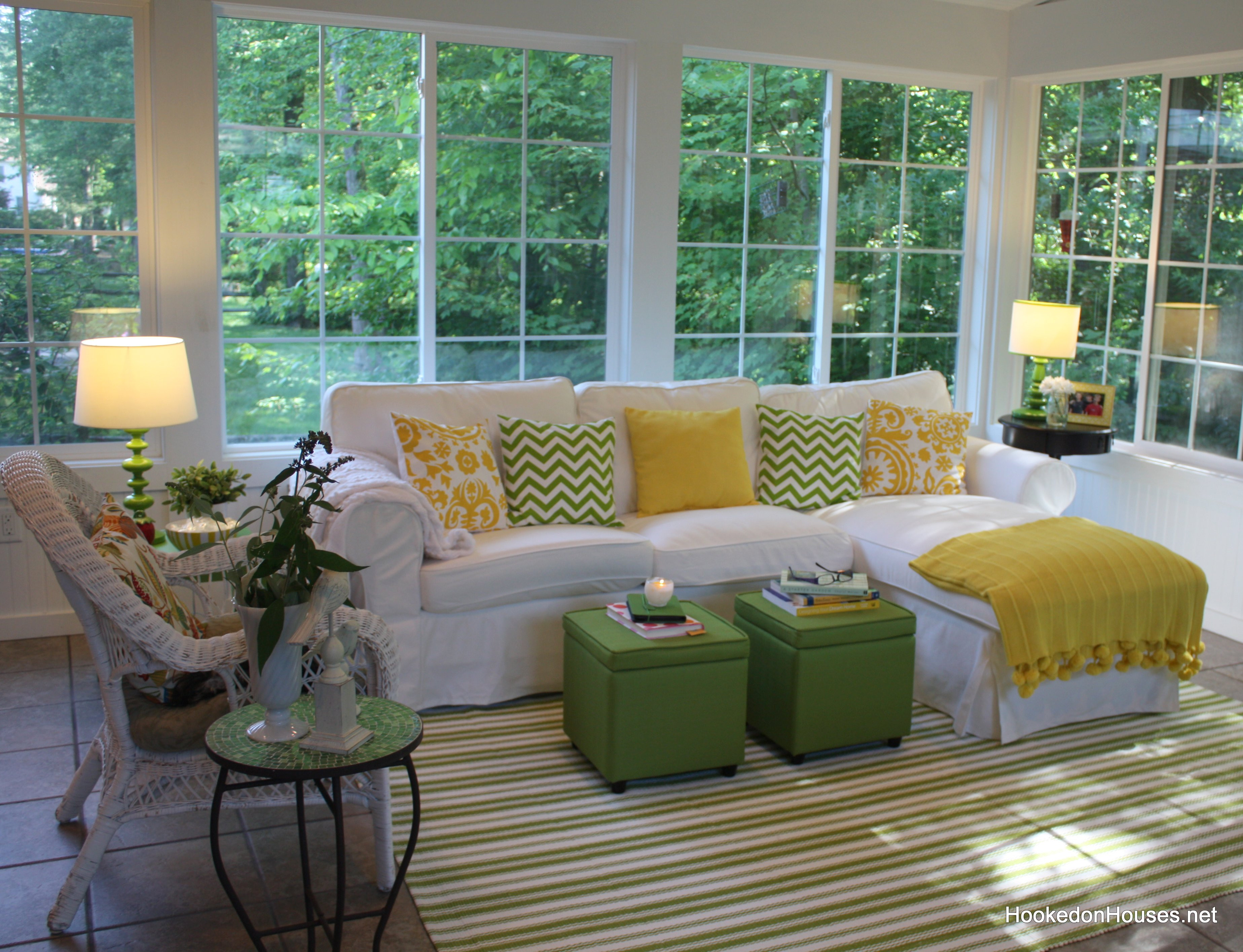 Best ideas about Sunroom Furniture Ideas . Save or Pin Ektorp sofa sunroom 2 Hooked on Houses Now.