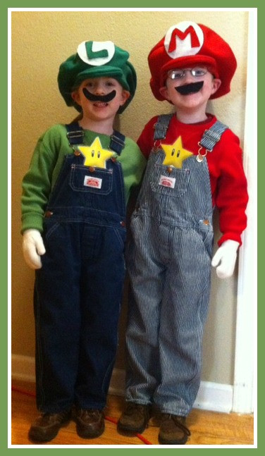 Best ideas about Super Mario Costume DIY . Save or Pin DIY Luigi and Mario Costumes e Crazy Mom Now.