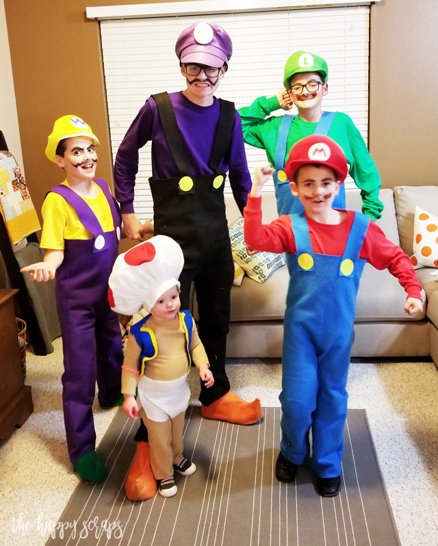 Best ideas about Super Mario Costume DIY . Save or Pin DIY Super Mario Brothers Costumes The Happy Scraps Now.