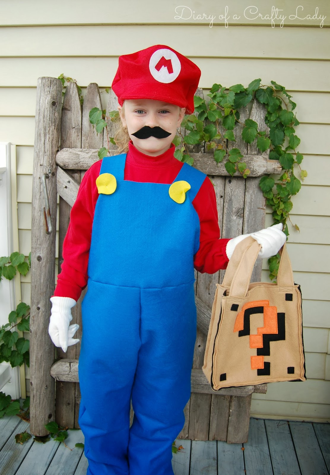 Best ideas about Super Mario Costume DIY . Save or Pin Diary of a Crafty Lady Super Mario Brothers Custom Felt Now.