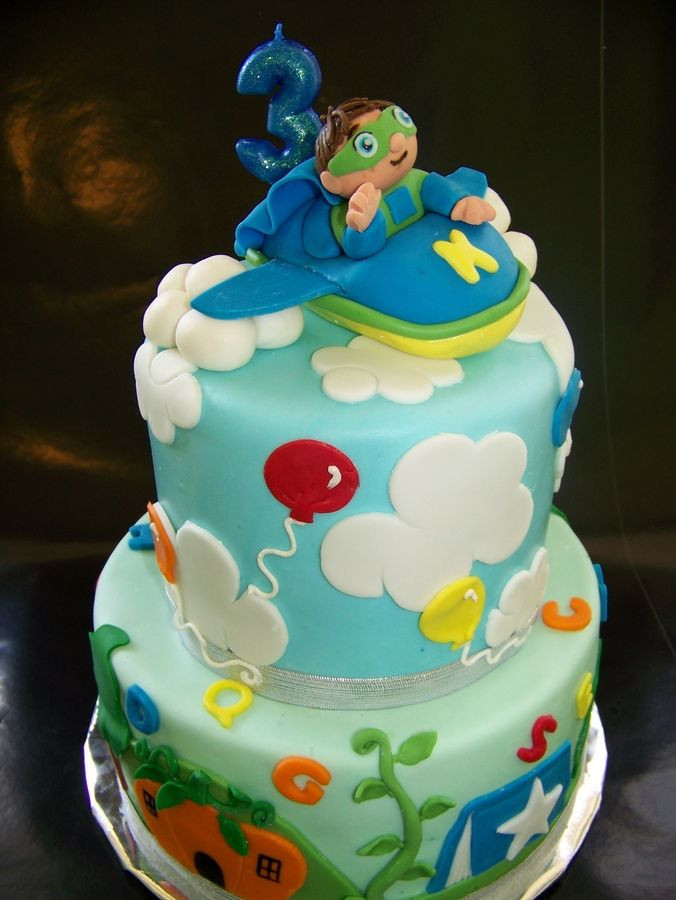 Best ideas about Super Why Birthday Cake . Save or Pin 2 tier Super Why birthday cake Yellow vanilla butter Now.