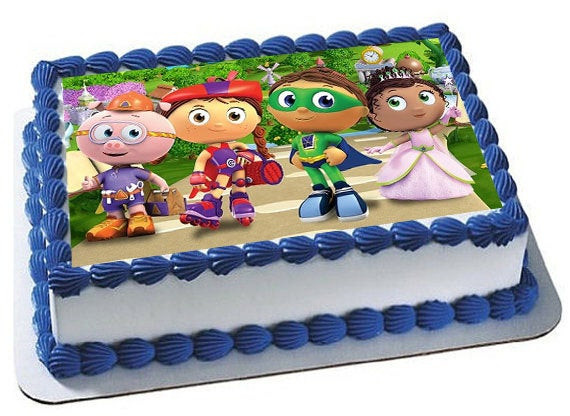 Best ideas about Super Why Birthday Cake . Save or Pin Super Why Cake Topper Super Why Edible Image Super Why Now.