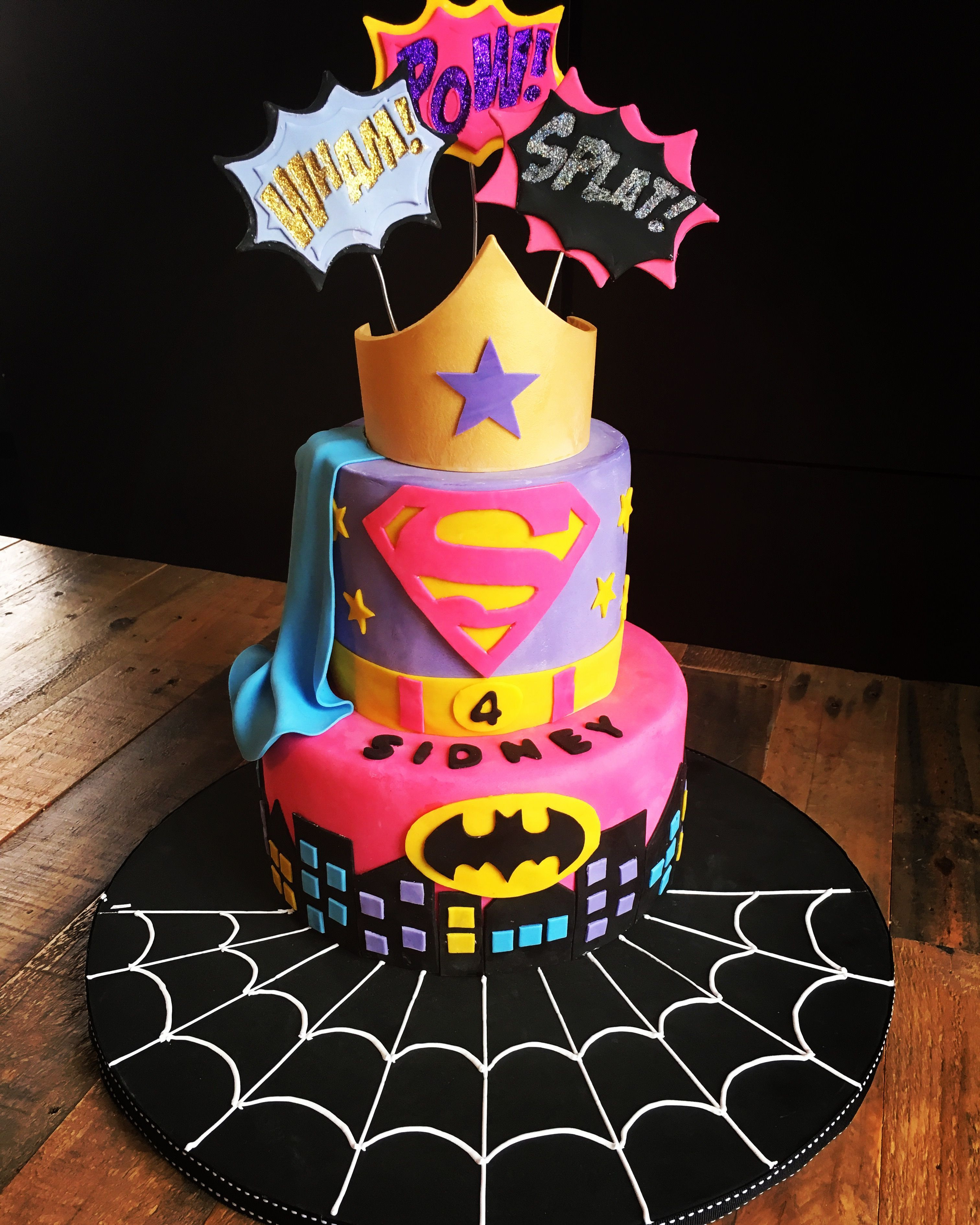 Best ideas about Superhero Birthday Cake . Save or Pin Super hero cake for girls for more ideas follow Now.
