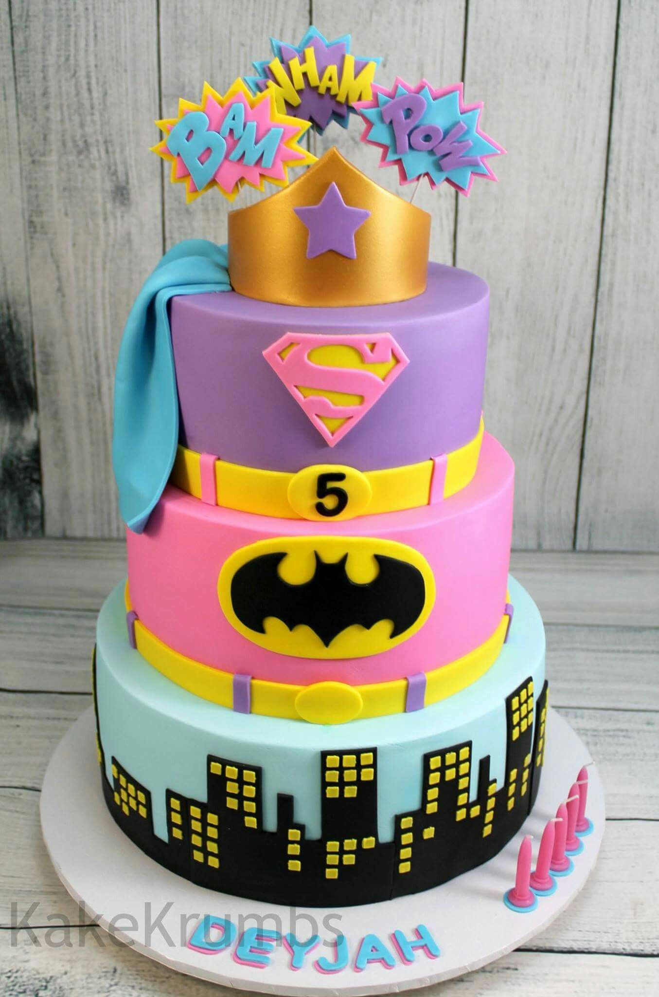 Best ideas about Superhero Birthday Cake . Save or Pin Girly super hero cake Cakes Now.