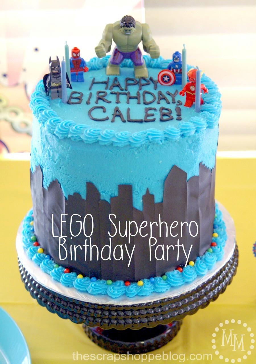 Best ideas about Superhero Birthday Cake . Save or Pin Lego Superhero Birthday Party The Scrap Shoppe Now.