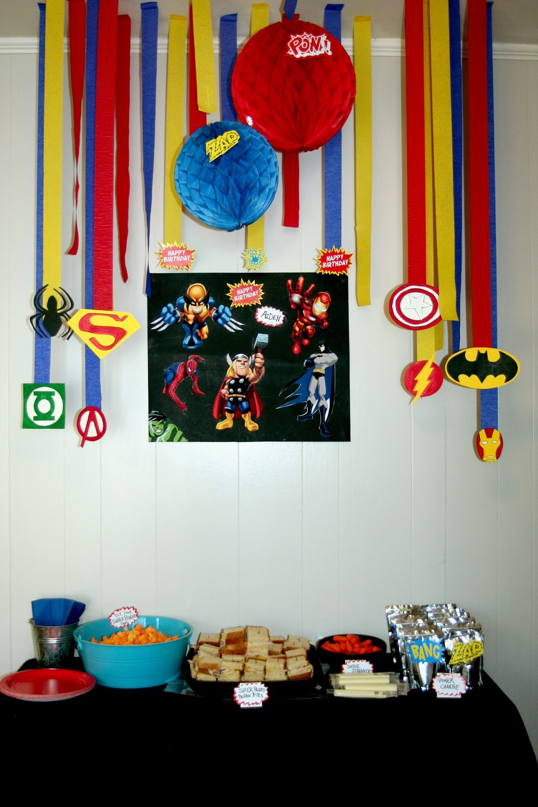 Best ideas about Superhero Birthday Decorations . Save or Pin Circles Sunshine Super Hero Birthday Party Now.
