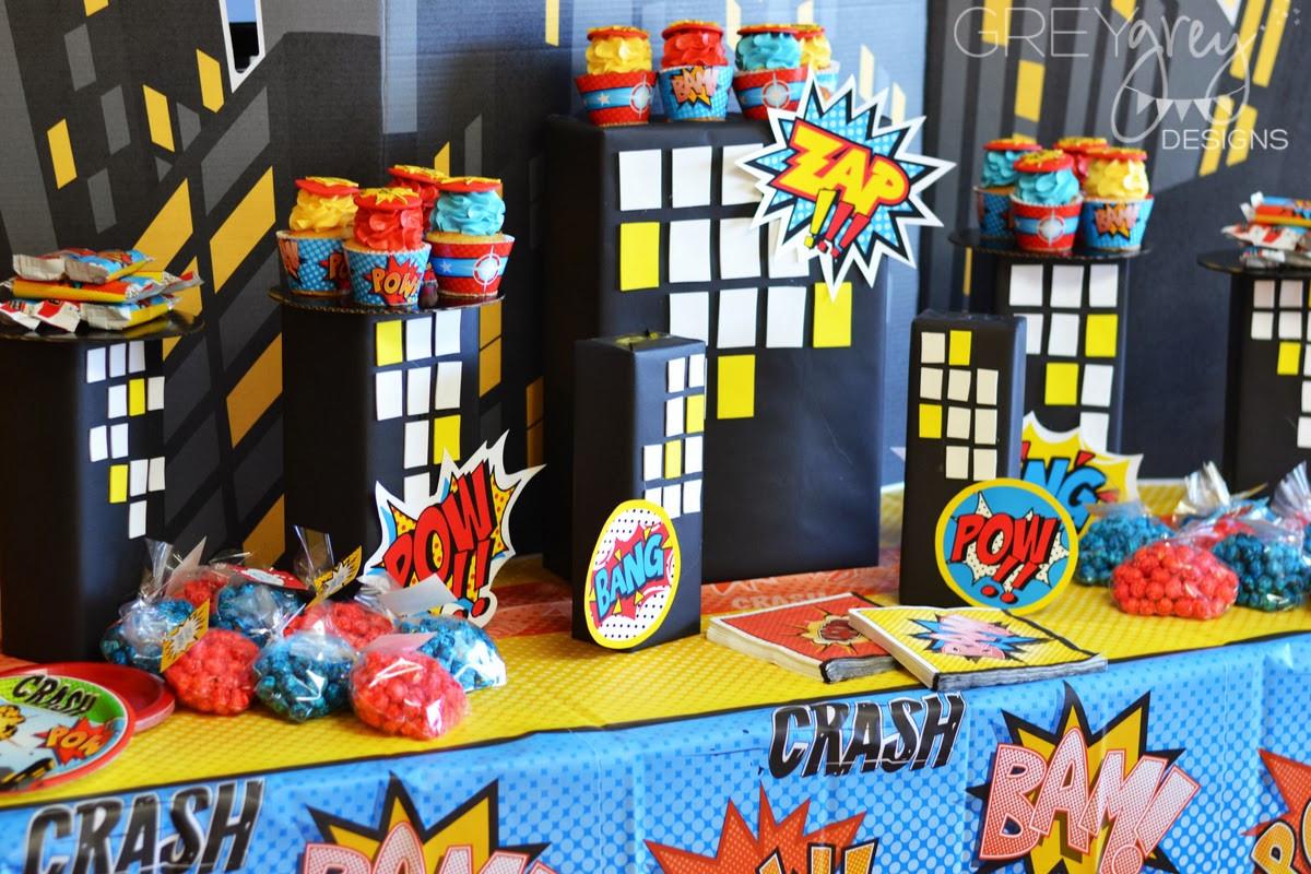 Best ideas about Superhero Birthday Decorations . Save or Pin GreyGrey Designs My Parties Brett s Superhero 4th Now.