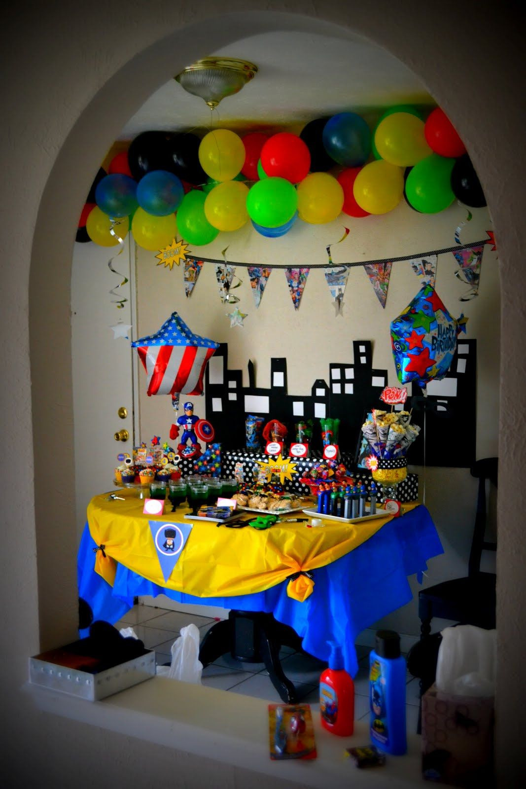 Best ideas about Superhero Birthday Decorations . Save or Pin Superhero party Birthday ideas Now.