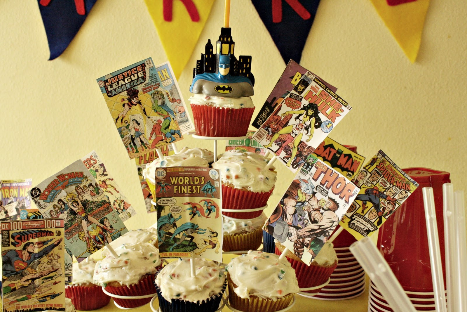 Best ideas about Superhero Birthday Decorations . Save or Pin 3 Sweet P s Super Birthday Part 3 Now.