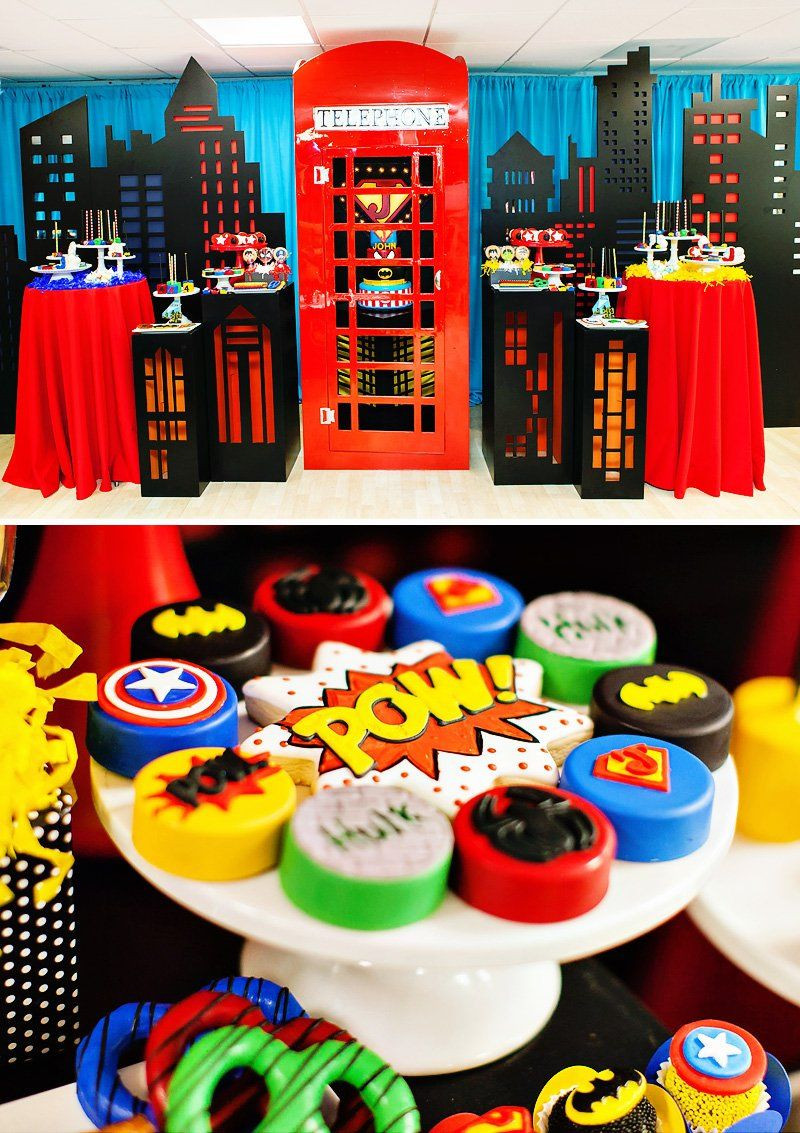"""Best ideas about Superhero Birthday Decorations . Save or Pin Amazing """"Calling All Superheroes"""" Birthday Party Now."""