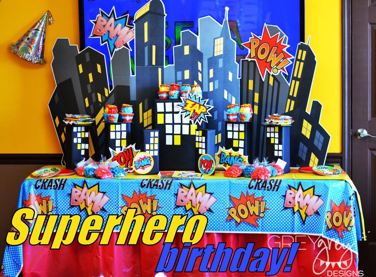 Best ideas about Superhero Birthday Party Ideas . Save or Pin GreyGrey Designs My Parties Brett s Superhero 4th Now.
