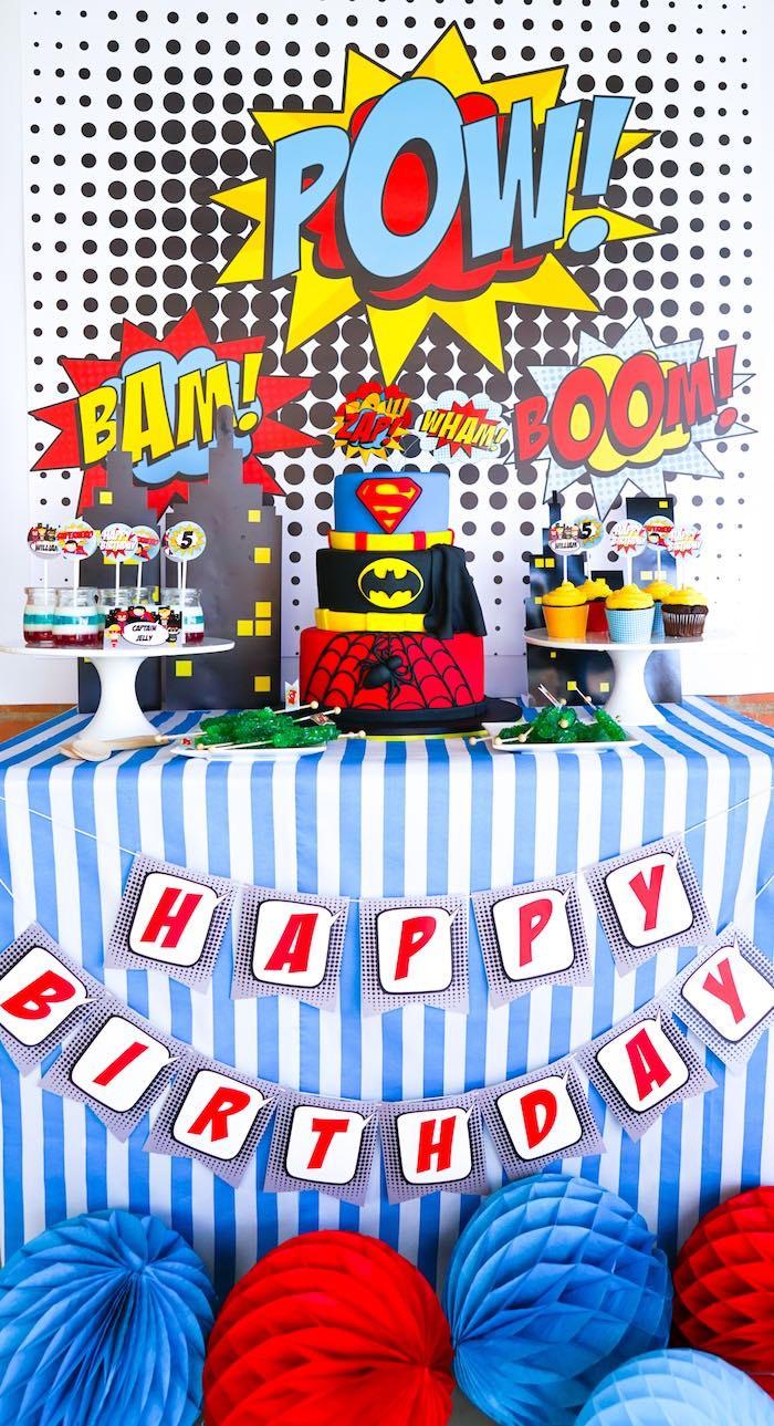 Best ideas about Superhero Birthday Party Ideas . Save or Pin Kara s Party Ideas Bam Pow Superhero Birthday Party Now.