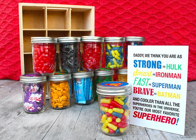 Best ideas about Superheroes Gift Ideas . Save or Pin Easy Father s Day Superhero Gift with Free Printable Now.