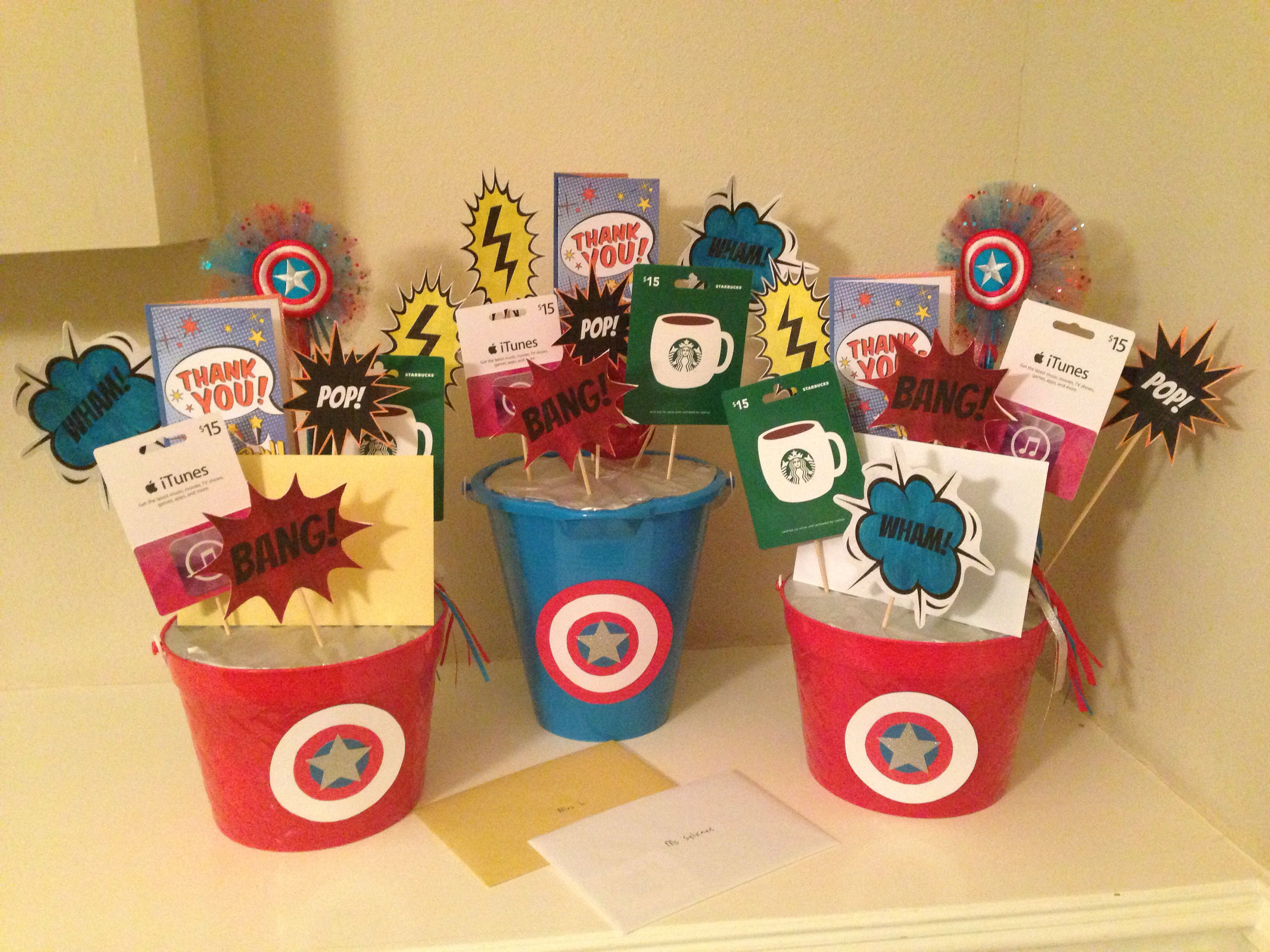 Best ideas about Superheroes Gift Ideas . Save or Pin Teacher Appreciation superhero t card bouquet daily Now.