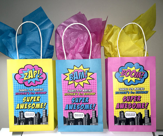 Best ideas about Superheroes Gift Ideas . Save or Pin Superhero Gift Bag Labels 7x 4 Printed Now.