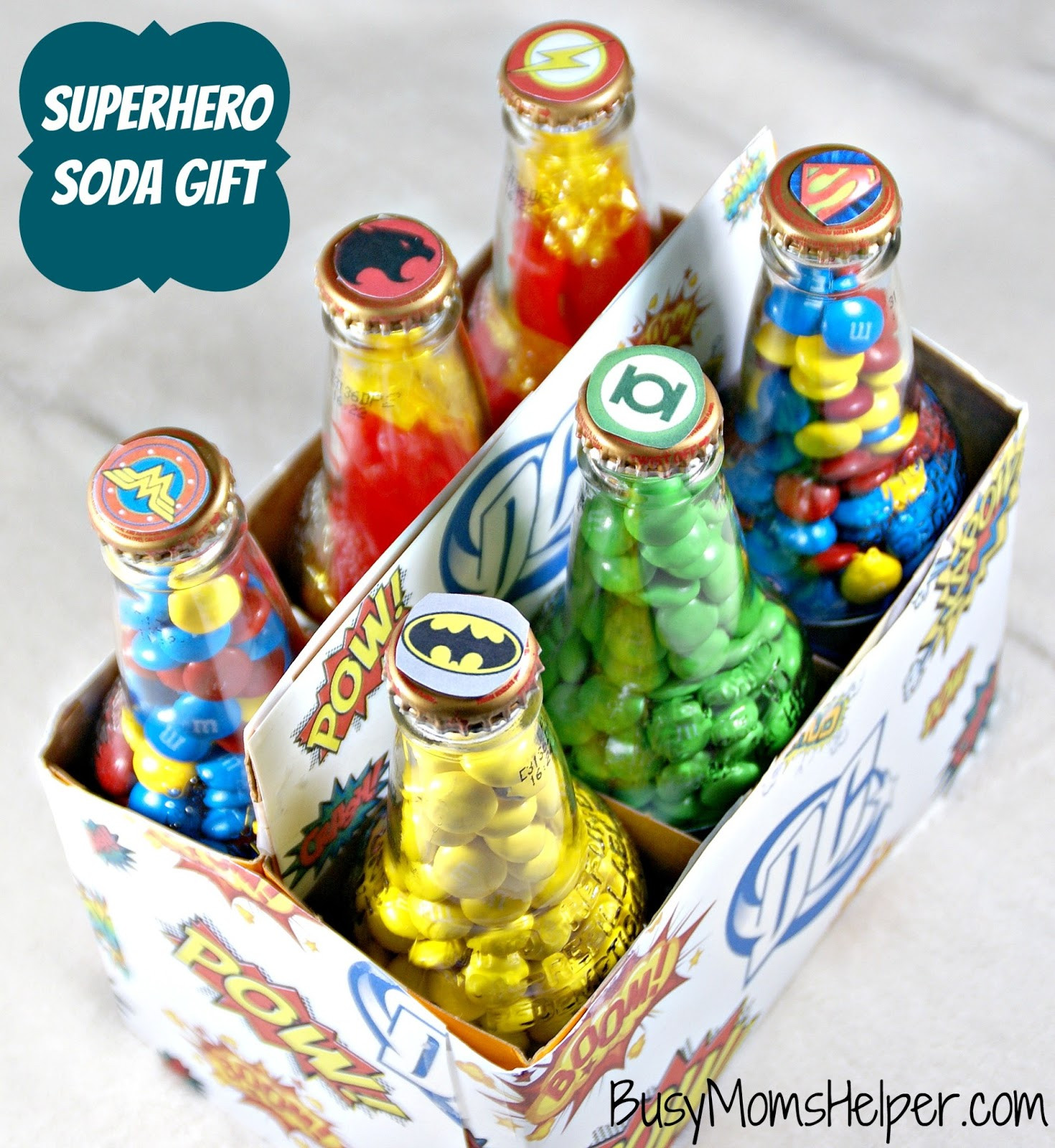 Best ideas about Superheroes Gift Ideas . Save or Pin Superhero Soda Gift Busy Mom s Helper Now.