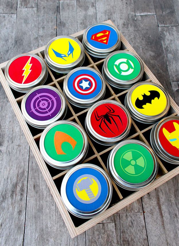 Best ideas about Superheroes Gift Ideas . Save or Pin 31 Best Free Printables and Templates for Mason Jars Now.