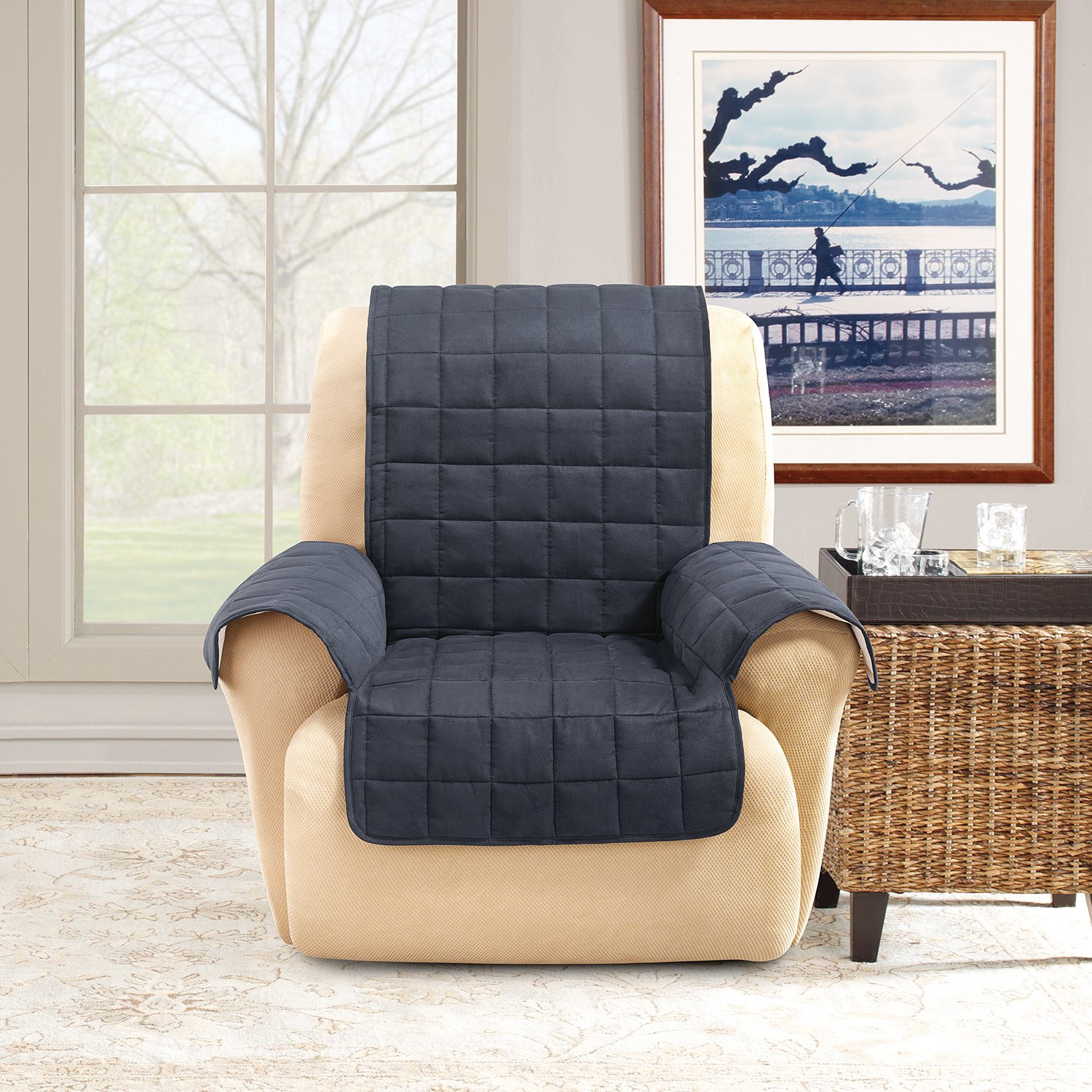 Best ideas about Surefit Chair Cover . Save or Pin Sure Fit Recliner Slipcover & Reviews Now.