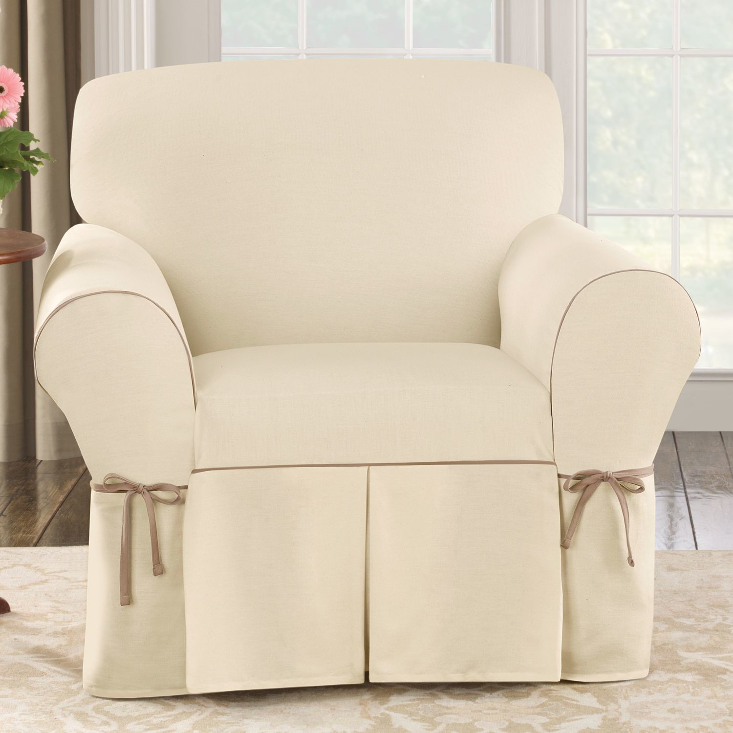 Best ideas about Surefit Chair Cover . Save or Pin Sure Fit Cotton Duck Club Chair Slipcover & Reviews Now.