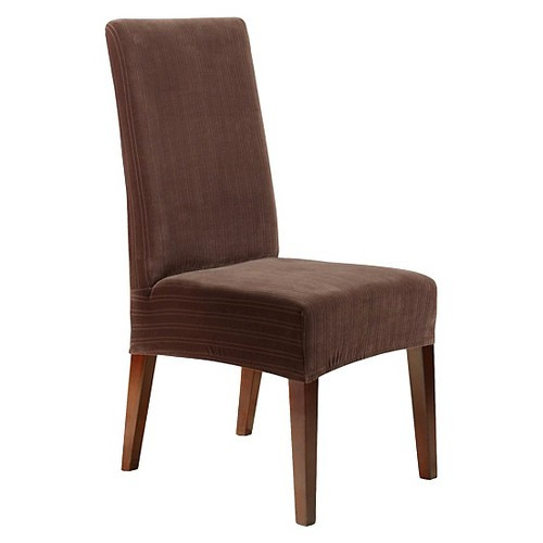 Best ideas about Surefit Chair Cover . Save or Pin Sure Fit Stretch Pinstripe Short Dining Room Chair Cover Now.