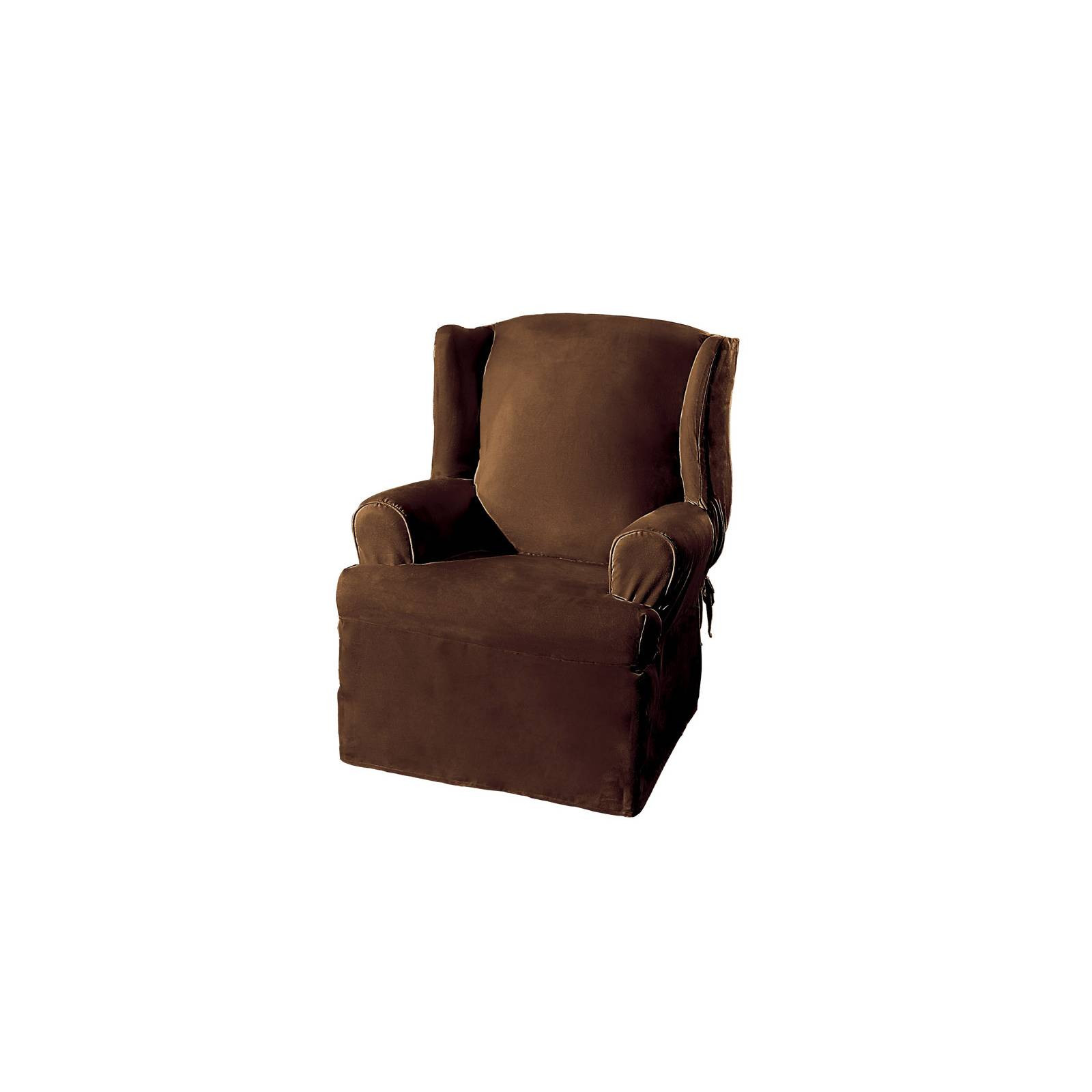 Best ideas about Surefit Chair Cover . Save or Pin Suede Slipcover Wing Chair Sure Fit Now.