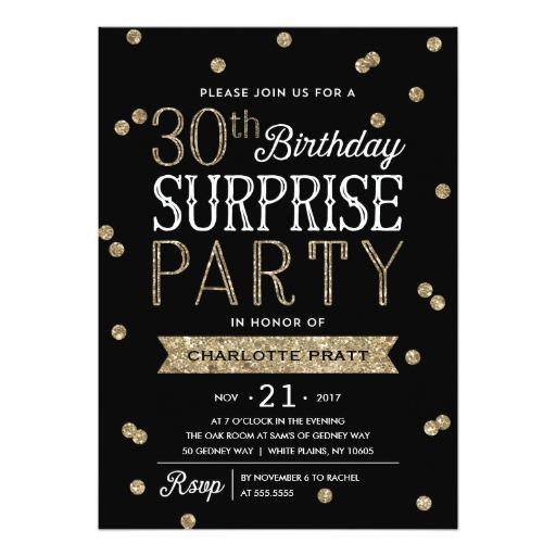 Best ideas about Surprise 30th Birthday Invitations . Save or Pin 20 Interesting 30th Birthday Invitations Themes – Wording Now.