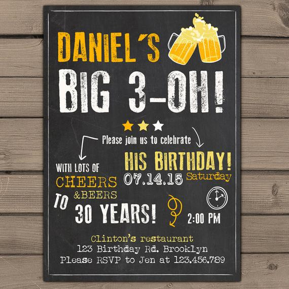 Best ideas about Surprise 30th Birthday Invitations . Save or Pin 30th Birthday Invitation Surprise Party Cheers and beers Now.