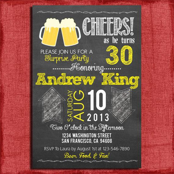 Best ideas about Surprise 30th Birthday Invitations . Save or Pin Surprise 21st 30th 40th 50th Beer Chalkboard Style Birthday Now.