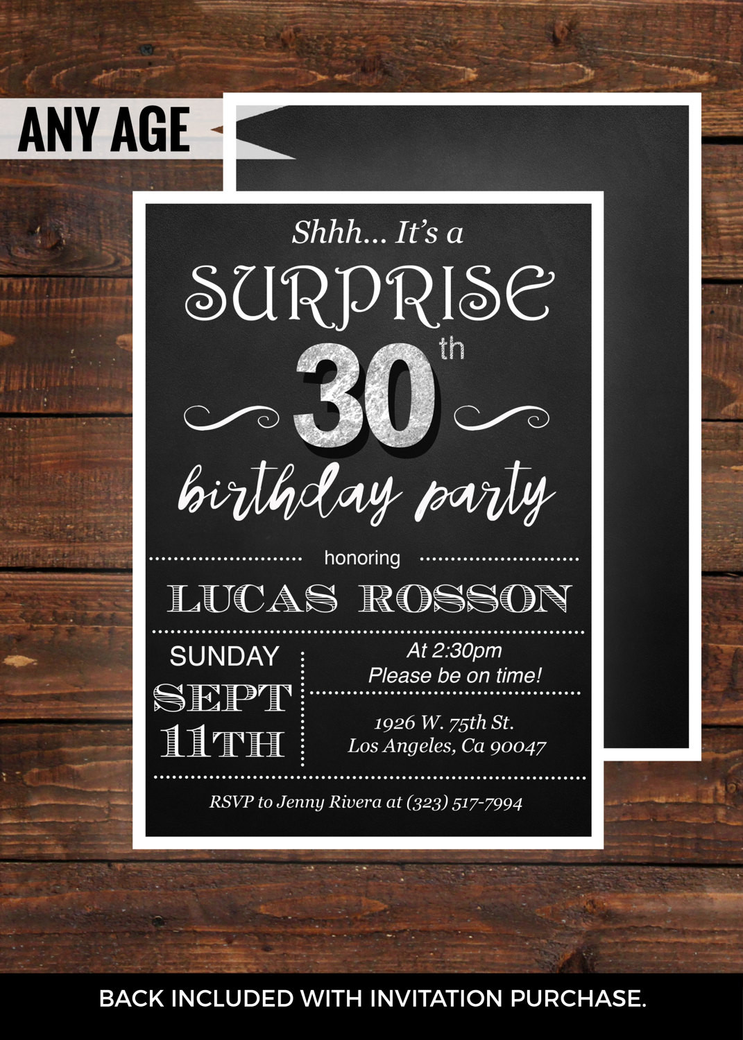 Best ideas about Surprise 30th Birthday Invitations . Save or Pin Surprise 30th birthday invitations for him by Now.