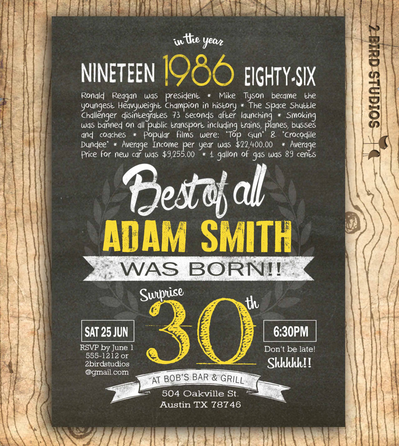 Best ideas about Surprise 30th Birthday Invitations . Save or Pin 30th birthday invitation Surprise 30th birthday by Now.