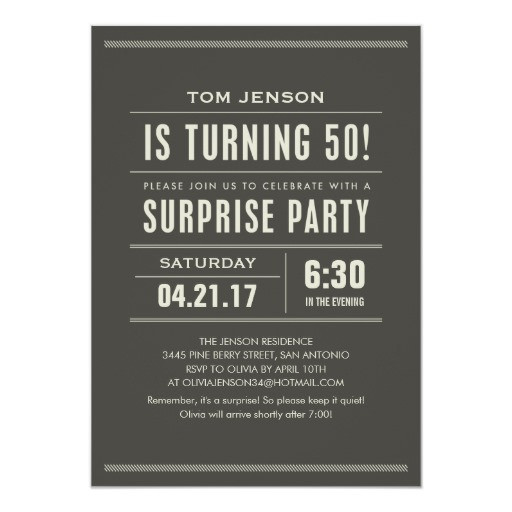 Best ideas about Surprise 60th Birthday Invitations . Save or Pin Surprise 50th Birthday Party Invitations Now.