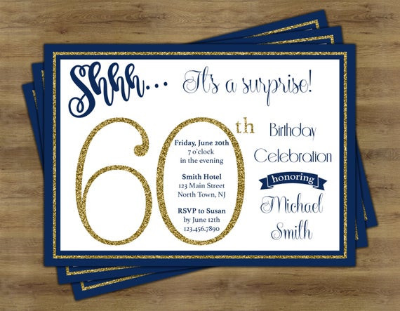 Best ideas about Surprise 60th Birthday Invitations . Save or Pin Surprise 60th Birthday Invitation Surprise Birthday Now.